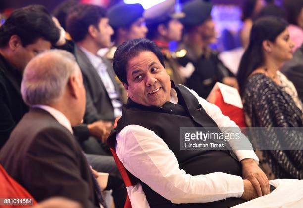 Rajeev Shukla a former vicepresident of the BCCI during an award function night organised by Bag Films Network at Taj Palace Hotel on November 27...