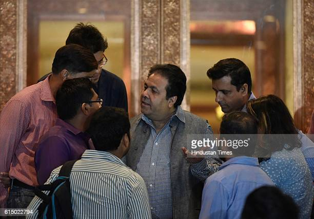Rajeev Shukla Chairman of Indian Premier League after the BCCI meeting on October 15 2016 in New Delhi India
