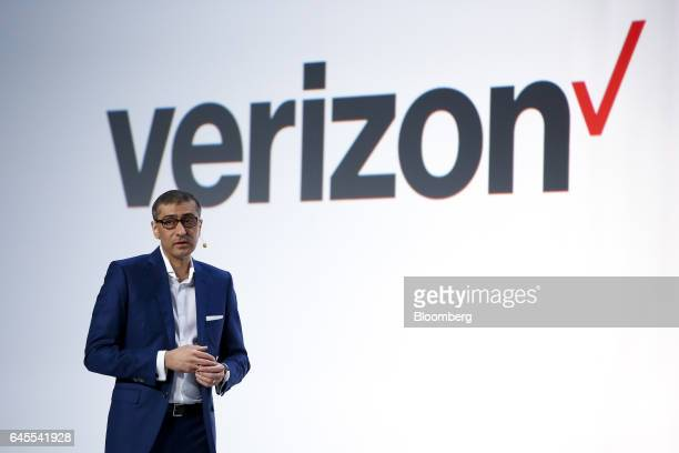 Rajeev Suri, chief executive officer of Nokia Oyj, speaks during a news conference ahead of the Mobile World Congress in Barcelona, Spain, on Sunday,...