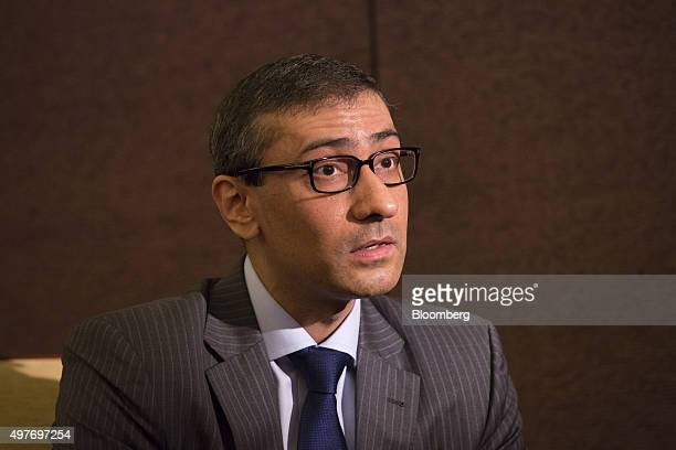 Rajeev Suri chief executive officer of Nokia Oyj speaks during an interview in Paris France on Wednesday Nov 18 2015 Nokia announced plans last month...