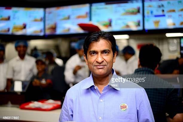 Rajeev Varman India CEO of Burger King poses for a profile shoot at Select City mall on November 11 2014 in New Delhi India Photo by Pradeep...