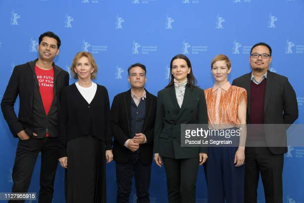 Rajendra Roy Trudie Styler Sebastián Lelio Juliette Binoche Sandra Hueller and Justin Chang pose at the International Jury photocall during the 69th...