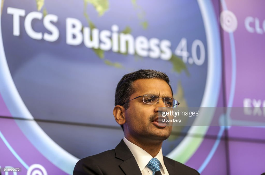 Tata Cosultancy Services CEO Rajesh Gopinathan Attends Earnings News Conference