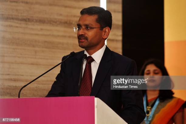Rajesh Gopinthan MD TCS during the inauguration of Tata Consultancy Services at GB Road Thane on November 8 2017 in Mumbai India TCS Olympus Centre...