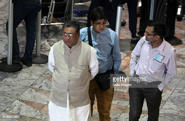 Rajesh Gupta at international departures Terminal A at OR Tambo International Airport on May 3 in Johannesburg South Africa The Gupta family...
