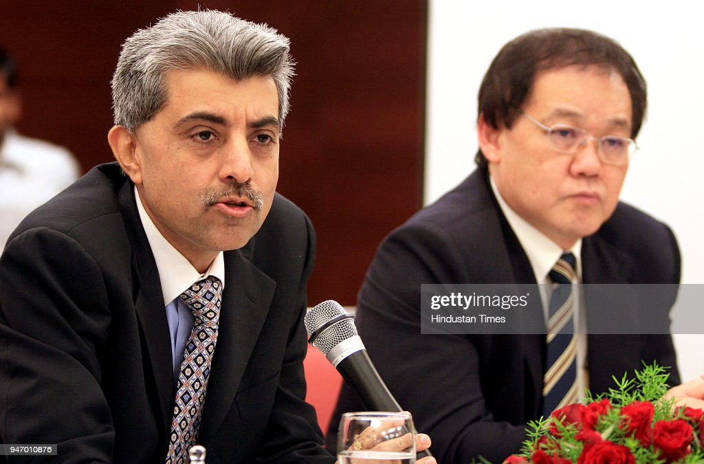 Rajesh Verma, Chief Mentor Kingfisher Training Academy (Left), Miccael Tan GM Yraning of KTA(Right) addressing the press confernce during the launch of New Kingfisher Training Academy, in New Delhi .