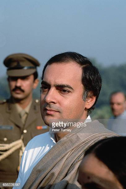 Rajiv Gandhi at His Mother's Funeral