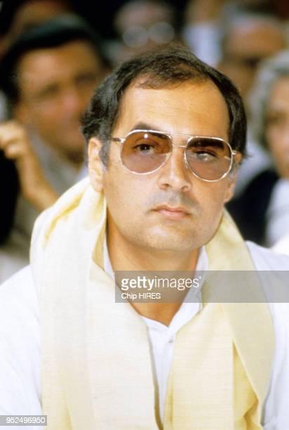 Rajiv Gandhi en novembre 1984 à New Delhi en Inde