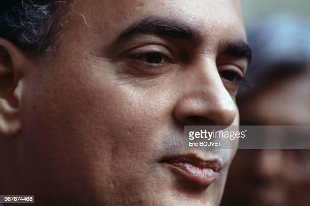 Rajiv Gandhi le 13 juillet 1989 à Paris en France