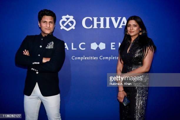 Rajiv Makhni and his wife Ruchi Malhotra attend the third edition of Chivas 18 Alchemy 2019 on March 16 2019 in New Delhi India