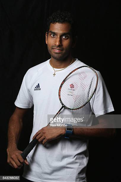 Rajiv Ouseph of Team GB during the Announcement of Badminton Athletes Named in Team GB for the Rio 2016 Olympic Games at the National Badminton...