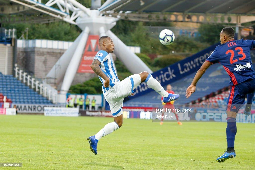Rajiv van La Parra of Huddersfield Town during the Huddersfield Town v Olympique Lyonnais - Pre-Season Friendly at John Smith's Stadium on July 25, 2018 in Huddersfield, England.
