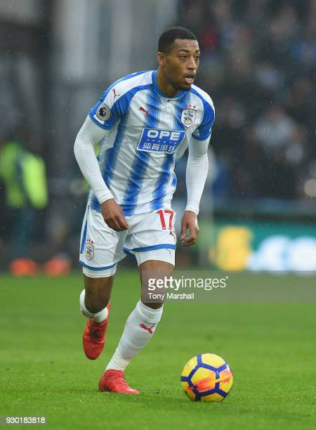 Rajiv van La Parra of Huddersfield Town during the Premier League match between Huddersfield Town and Swansea City at John Smith's Stadium on March...