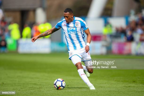 Rajiv Van La Parra of Huddersfield Town during the Premier League match between Huddersfield Town and Watford at John Smith's Stadium on April 14...