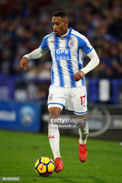 Rajiv van La Parra of Huddersfield Town in action during the Premier League match between Huddersfield Town and West Ham United at John Smith's...