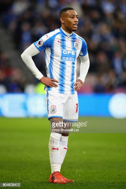 Rajiv van La Parra of Huddersfield Town looks on during the Premier League match between Huddersfield Town and West Ham United at John Smith's...