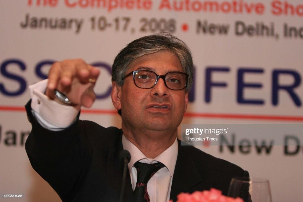 Rajive Kaul Chairman CII Apex Council for Trade Fairs During the 9th Auto Expo 2008 Press Confernce on January 8, 2008 in New Delhi, India.