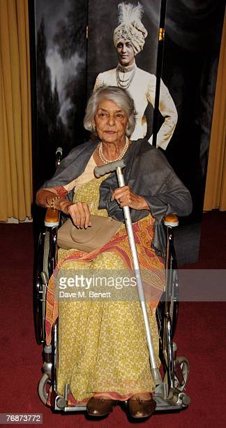 Rajmata Gayatri Devi attends the Cartier International Jewellery Launch Night, at Lancaster House on September 19, 2007 in London, England.