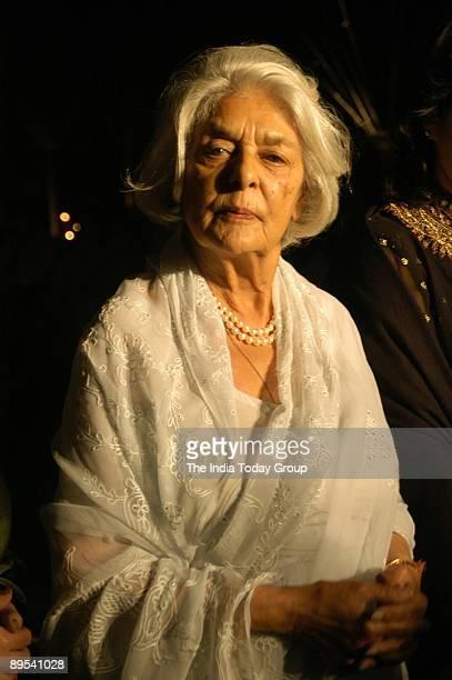 Rajmata Gayatri Devi, the brand ambassador for Arisia Diamonds, attends Arisia Jodhpur Polo Season, held at Mayfair in Mehrauli on February 9, 2005...