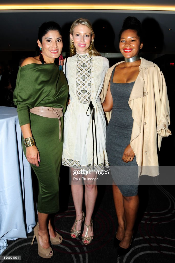 Rajni Alex, Virginia Tupker and Dani Arps attend the Decoration and Design Building celebrates the 2017 winners of the DDB's 10th Anniversary of Stars of Design Awards at D&D Building on October 11, 2017 in New York City.