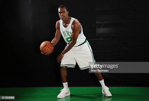 Rajon Rondo of the Boston Celtics poses for a portrait during the 2009 NBA Media Day on September 28 2009 at Healthpoint in Waltham Massachusetts...