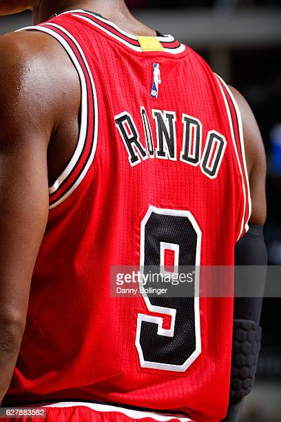 Rajon Rondo of the Chicago Bulls looks on during the game against the Dallas Mavericks on December 3 2016 at the American Airlines Center in Dallas...
