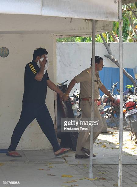 Rajya Sabha member Narendra Kashyap's son Sagar arrested by police on April 7 2016 in Ghaziabad India They were sent to judicial custody by Ghaziabad...
