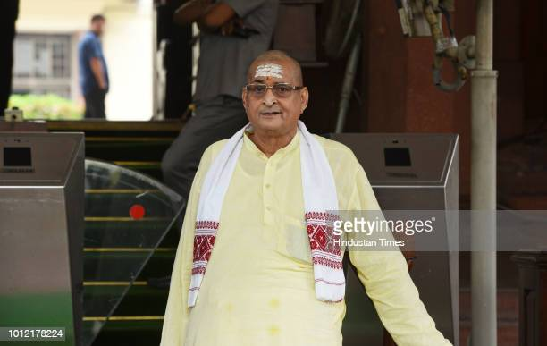 Rajya Sabha MP and Chairman of Security & Intelligence Services Limited RK Sinha at Parliament during the ongoing Monsoon Session on August 6, 2018...