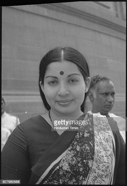 AIADMK Rajya Sabha MP J Jayalalithaa at Parlaiment on April 9 1984 in New Delhi India Tamil Nadu Chief Minister J Jayalalithaa suffered a cardiac...