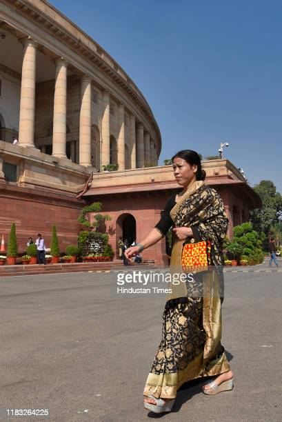 Rajya Sabha MP Mary Kom during the first day of the winter session of Parliament on November 18 2019 in New Delhi India The 250th Rajya Sabha Session...