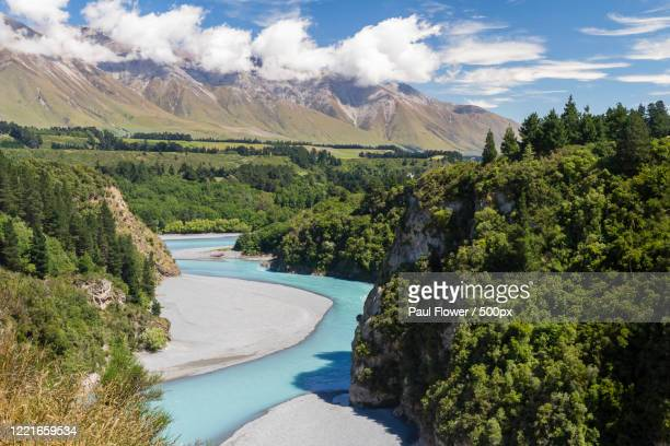 rakaia gorge, methven, south island, new zealand - images stock pictures, royalty-free photos & images