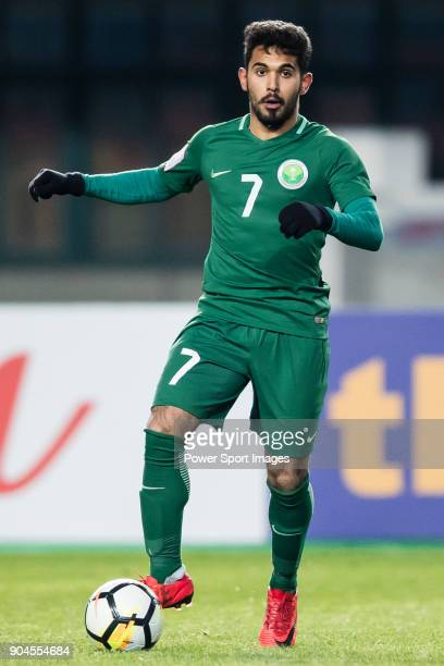 Rakan Al Anaze of Saudi Arabia in action during the AFC U23 Championship China 2018 Group C match between Jordan and Saudi Arabia at Changshu Sports...