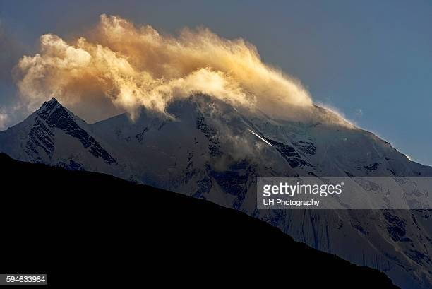 Rakaposhi peak at sunset