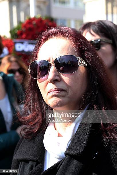 Rakel Dink attends the funeral ceremony of Turkish author Yasar Kemal who died at the age of 92 on 28th of February 2015 due to a cardiac arrhythmia...