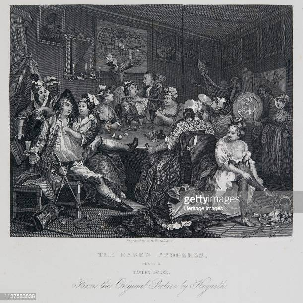 A Rake's Progress Tavern Scene 17321735 The decline of Tom Rakewell spendthrift son and heir of a rich merchant who wastes his money on luxurious...