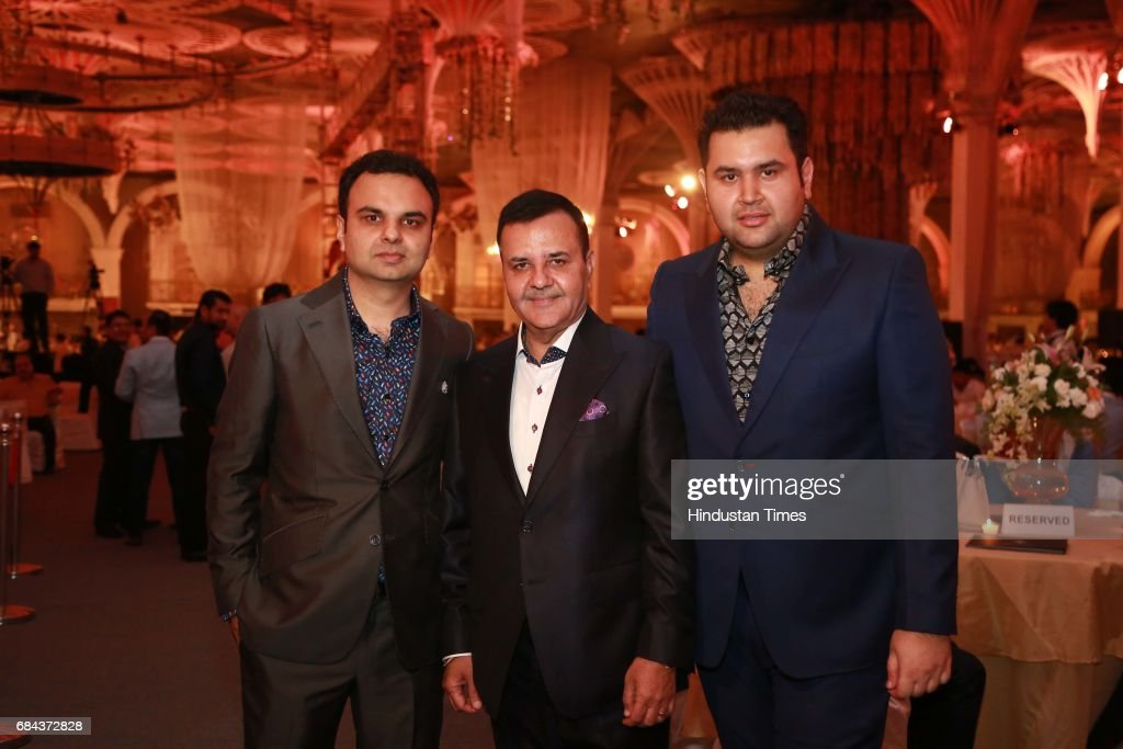 Rakesh Kapoor Elan Group Chairman with Directors Akash Kapoor and Ravish Kapoor during the launch of prestigious project Elan Miracle hosted by Real..