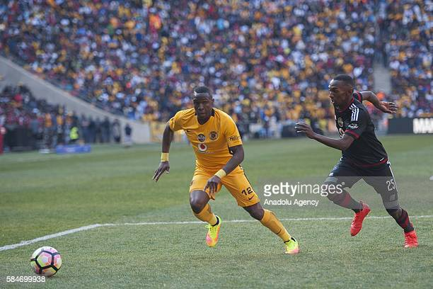 Rakhale Thabo of Orlando Pirates in action against Maluleke George Kaizer Chiefs FC during 2016 Carling Black Label Cup between Kaizer Chiefs FC and...