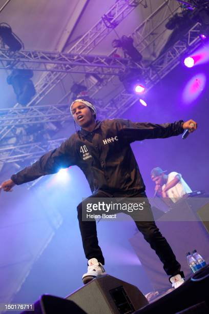 Rakim Mayers of A$ap Rocky performs on stage during Way Out West on August 11 2012 in Gothenburg Sweden