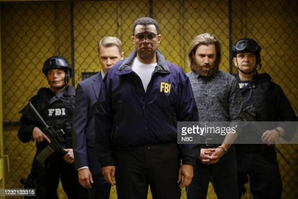 "Rakitin "" Episode 812 -- Pictured: Diego Klattenhoff as Donald Ressler, Harry Lennix as Harold Cooper, Seth Numrich as Rakitin --"