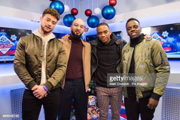 RakSu are pictured backstage during day one of Capital's Jingle Bell Ball 2017 at the O2 Arena London