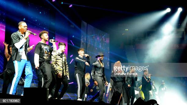 RakSu Grace Davies Lloyd Macey The Cutkelvins Matt Linnen and Kevin Davy White Sean Price and Conor Price perform during The X Factor Live at...
