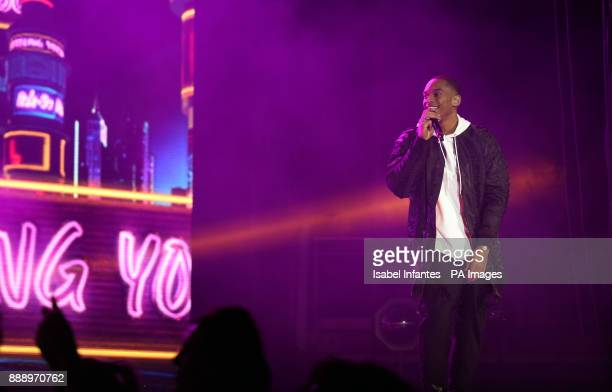 RakSu perform on stage during day one of Capital's Jingle Bell Ball with CocaCola at London's O2 Arena