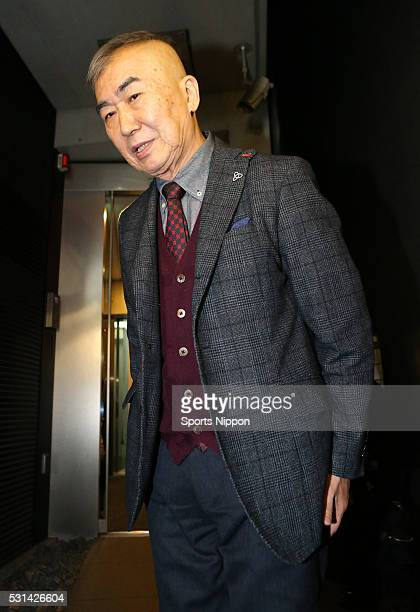 Rakugo artist / TV personality Katsura Bunshi VI attends the press conference for his affair scandal on February 21 2016 in Tokyo Japan