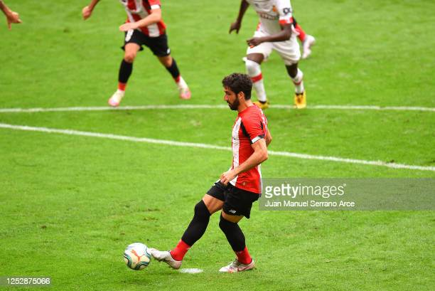 Raúl García of Athletic Club scores the opening goal from the penalty spot during the Liga match between Athletic Club and RCD Mallorca at San Mames...