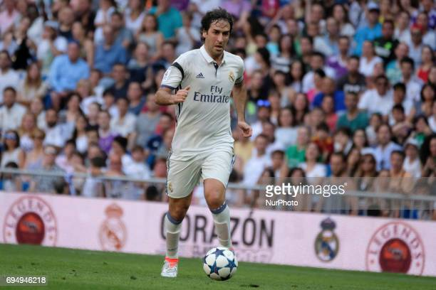Raúl González Real Madrid's in action during the Corazon Classic Match 2017 'Heartbeats for Africa' between legends of Real Madrid and Roma played at...
