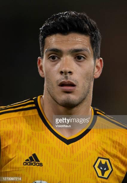 Raúl Jiménez of Wolverhampton Wanderers during the Carabao Cup second round match between Wolverhampton Wanderers and Stoke City at Molineux on...