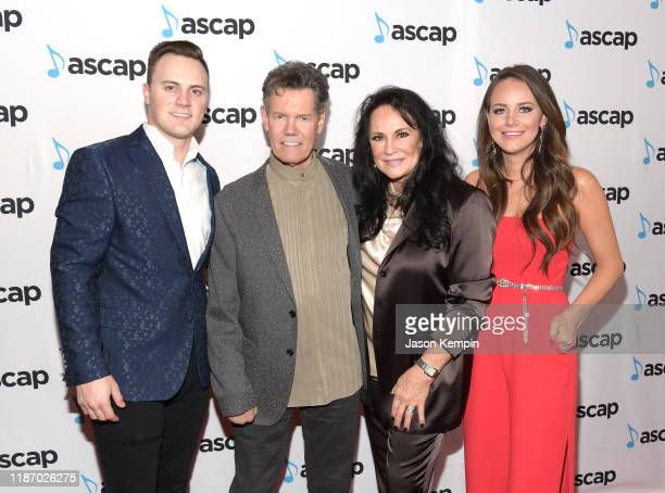 Raleigh Beougher Randy Travis Mary Davis and Cavanaugh Beougher attend the 57th Annual ASCAP Country Music Awards on November 11 2019 in Nashville...