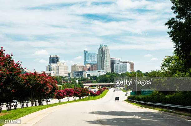 raleigh, nc skyline - raleigh north carolina stock pictures, royalty-free photos & images
