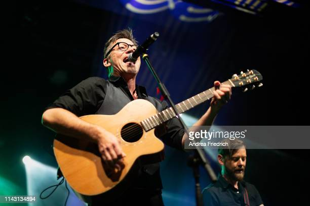Ralf Albers and Patrick Prziwara of Fiddler's Green performs live on stage during a concert at Columbia Theater on May 11, 2019 in Berlin, Germany.