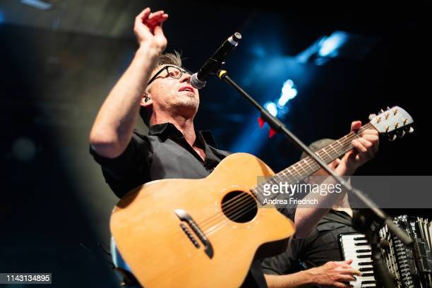 Ralf Albers of Fiddler's Green performs live on stage during a concert at Columbia Theater on May 11, 2019 in Berlin, Germany.